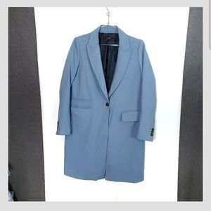 Zara Outwear Single Breasted Duster Blazer (C1)
